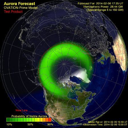 Aurora_Map_North Pole