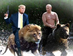 Trump-Putin-bears-lion